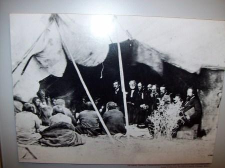 Firma del tratado de Laramie
