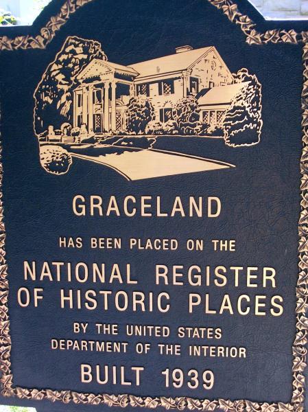 Placa de Graceland