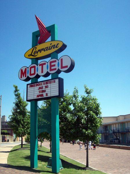 Cartel de los 50 del Motel Lorraine