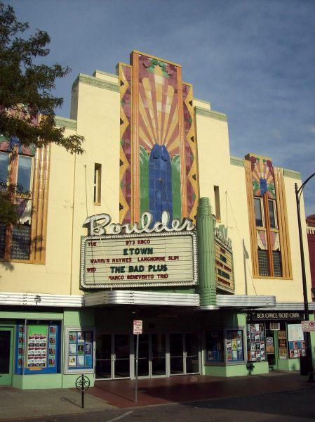 Cine Art Deco de Boulder, Colorado.