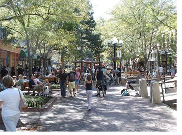 Pearl Street Mall, Boulder, CO.