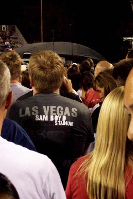 Camiseta de U2 en el Sam Boyd Stadium de Las Vegas