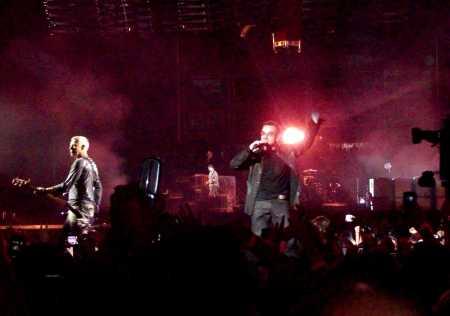 Bono y Adam Clayton en Las Vegas.
